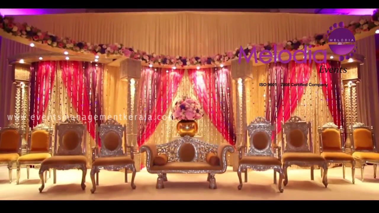 Wedding Reception Decorations In Thrissur Hall