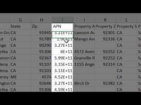 How To Properly Format APN's And Zip Code Values In Excel
