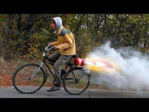 JET ENGINE Bike DIY (nitrate-caramel fuel)