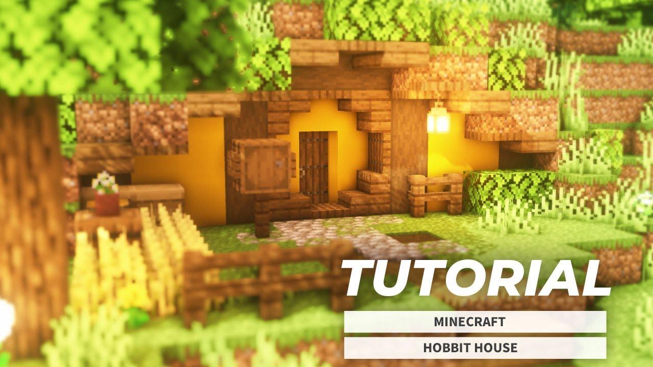 【マイクラ】超簡単な洞窟拠点!ホビットの家の作り方(サバイバル建築)