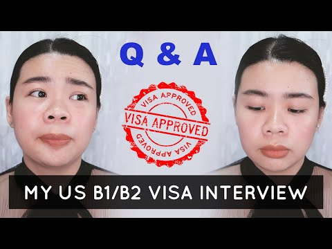 US B1/B2 Tourist Visa (MANILA) Interview Q&A Unemployed & APPROVED With 10 Years! | Seller Lucia