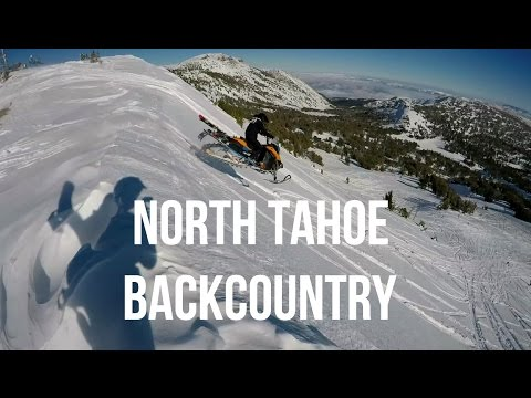 North Lake Tahoe Backcountry - Snowmobile/Snowboard - GoPro - January 2017