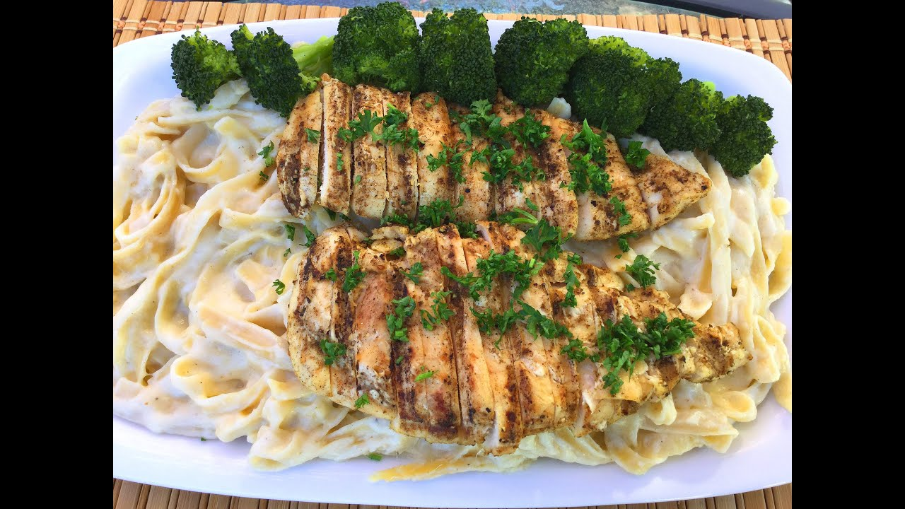 How to make fettuccine alfredo grilled herb chicken italian food how to make fettuccine alfredo grilled herb chicken italian food recipes youtube forumfinder