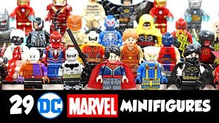 DC & Marvel Superheroes Batman Iron Man Spider-Man Unofficial LEGO Minifigures