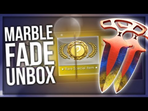 CS:GO SHADOW DAGGERS MARBLE FADE UNBOXING