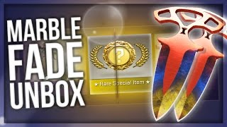 CS:GO SHADOW DAGGERS MARBLE FADE UNBOXING thumbnail