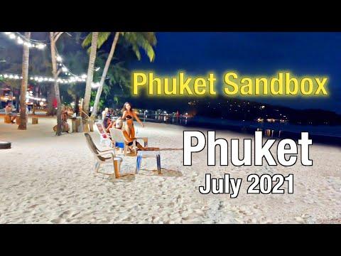 PATONG BEACH Phuket July 2021 at NIGHT - Bangla Road - Beach Road