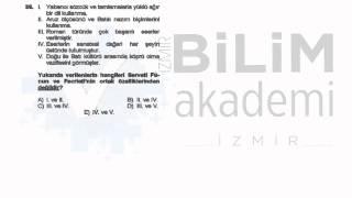 Türkiye Geneli Deneme Sınavı 02 - ÖABT - Edebiyat Soru Çözümü