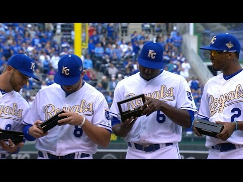 NYM@KC: Royals Honored With 2015 World Series Rings