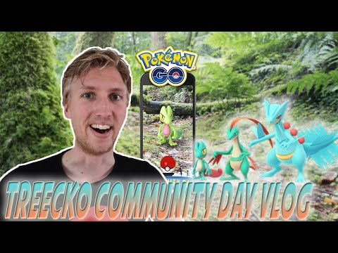 Treecko Community Day Nederland Vlog - Hoeveel shiny Treecko in 1 uur? - Pokemon GO Nederlands