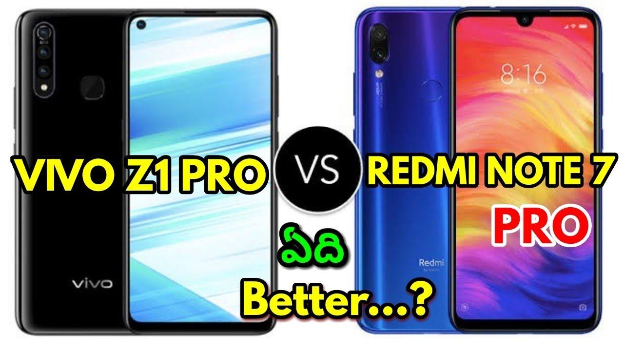 Vivo Z1 Pro vs Redmi Note 7 Pro Comparison Review in Telugu ll vivo Z1 pro  vs redminote7 pro review