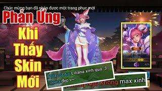 [Gcaothu] Phản ứng của cả team khi thấy trang phục mới Liliana tiểu thơ anh đào ra mắt