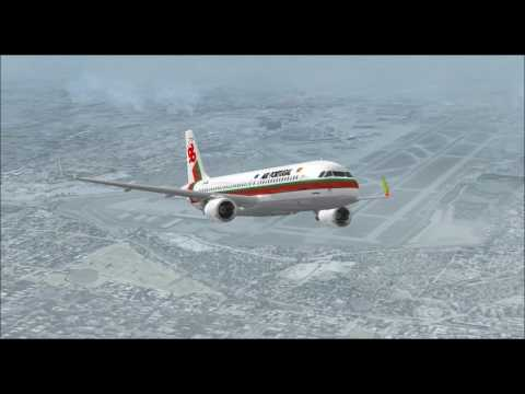 AIRBUS A320 214 SHARKLETS TAP PORTUGAL TAKE OFF FROM SEATTLE INTL AIRPORT FS9 HD