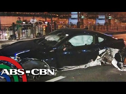 Sports Car Wrecked In Manila Crash