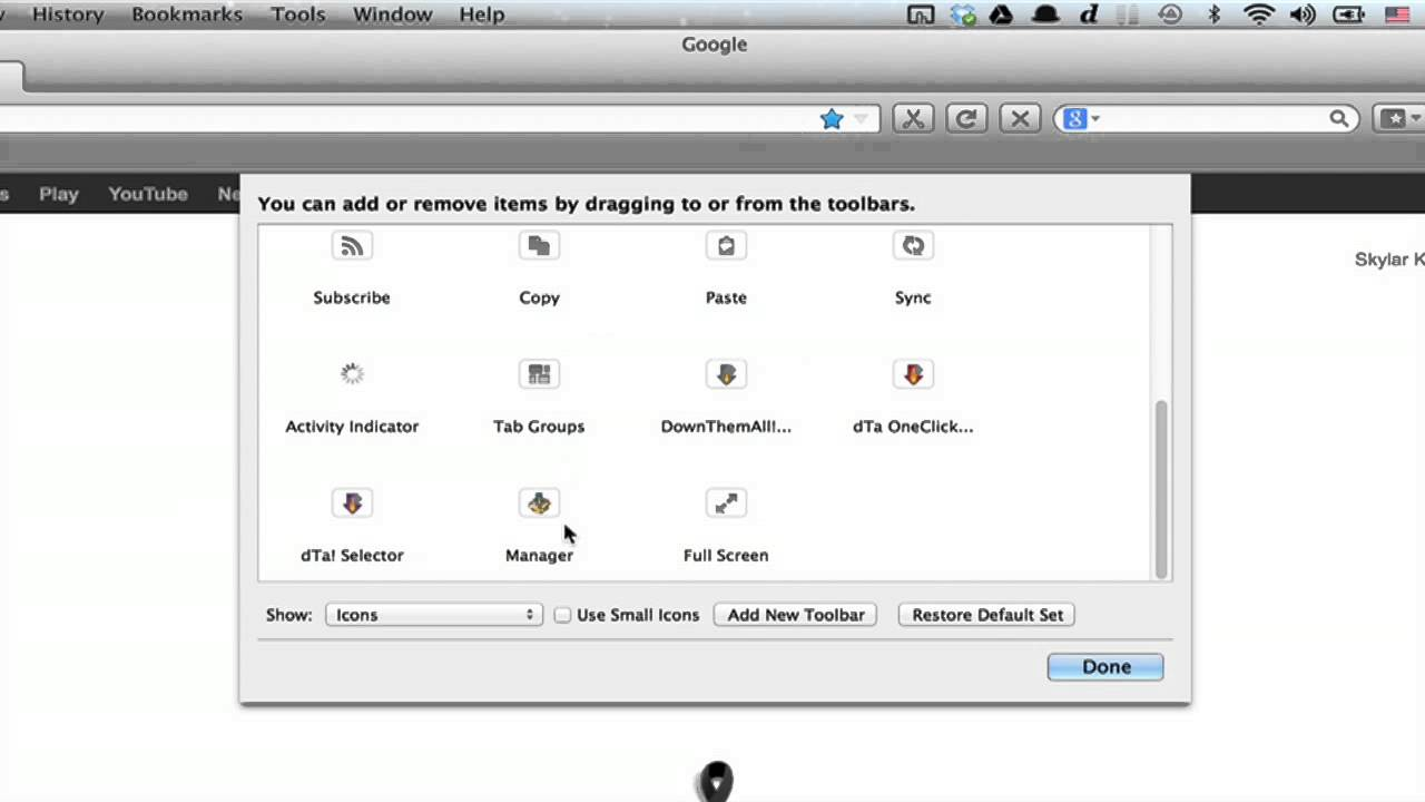 How to Remove Items From the Customize Toolbar Box in Firefox : Using  Google Chrome or Firefox