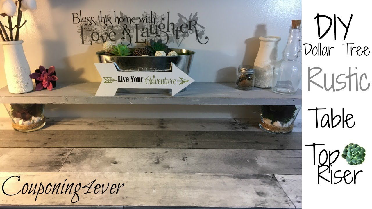 Learn How To Create This Diy Dollar Tree Rustic Table Riser Hometalk