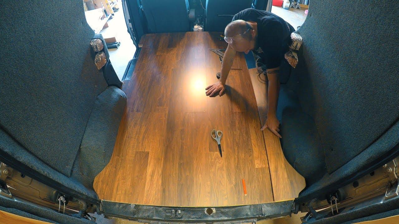 Van Conversion Installing A Laminate, Econoline Laminate Flooring
