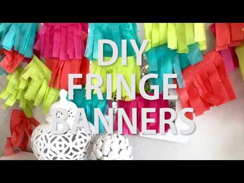 Fringed Banner DIY