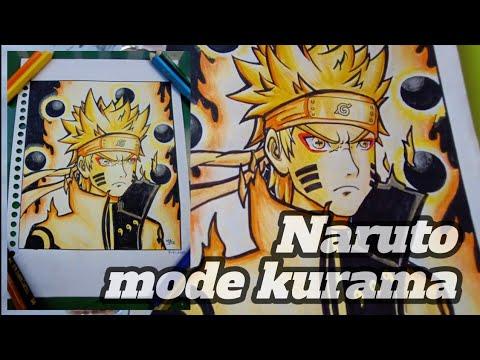 cara menggambar naruto bijuu mode - YouTube