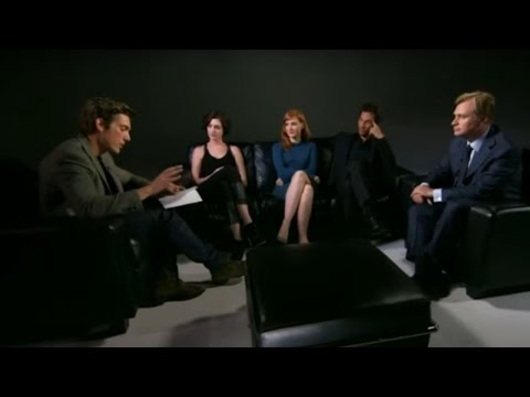 David Muir with the Cast of Interstellar