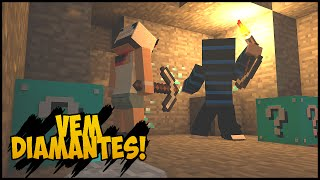 Minecraft - #2 Corrida MALUCA - Os 5 Blocos da SORTE!