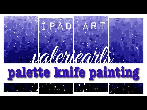 Digital iPad Painting 2 | easy Abstract palette knife painting | valeriearts