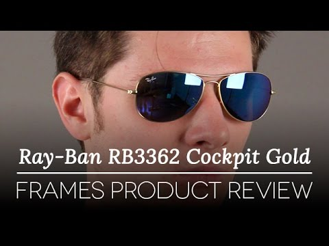 Ray Ban Rb3362 Cockpit Gold Frames Review Youtube
