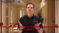 What are the Minimum Property Requirements for a USDA loan?