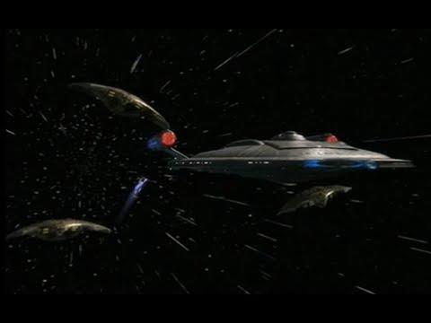 Enterprise  chased at high warp