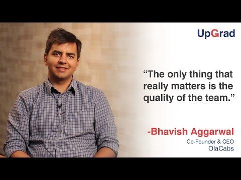 Olacabs Co-founder - Bhavish Aggarwal at UpGrad Entrepreneur Speak