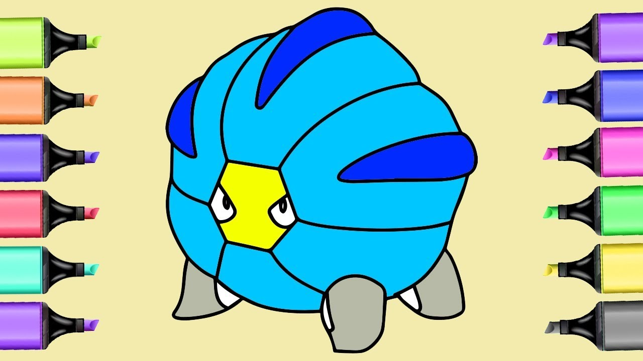 Pikachu Cyndaquil coloring pokemon   Shelgon,Spheal coloring pages ...