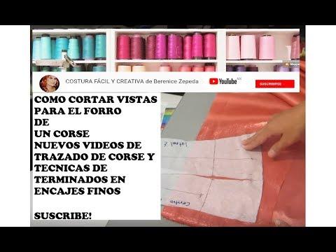 9a6504a83 CORSE CORTE DE FORRO Y VISTAS- parte 4 - YouTube