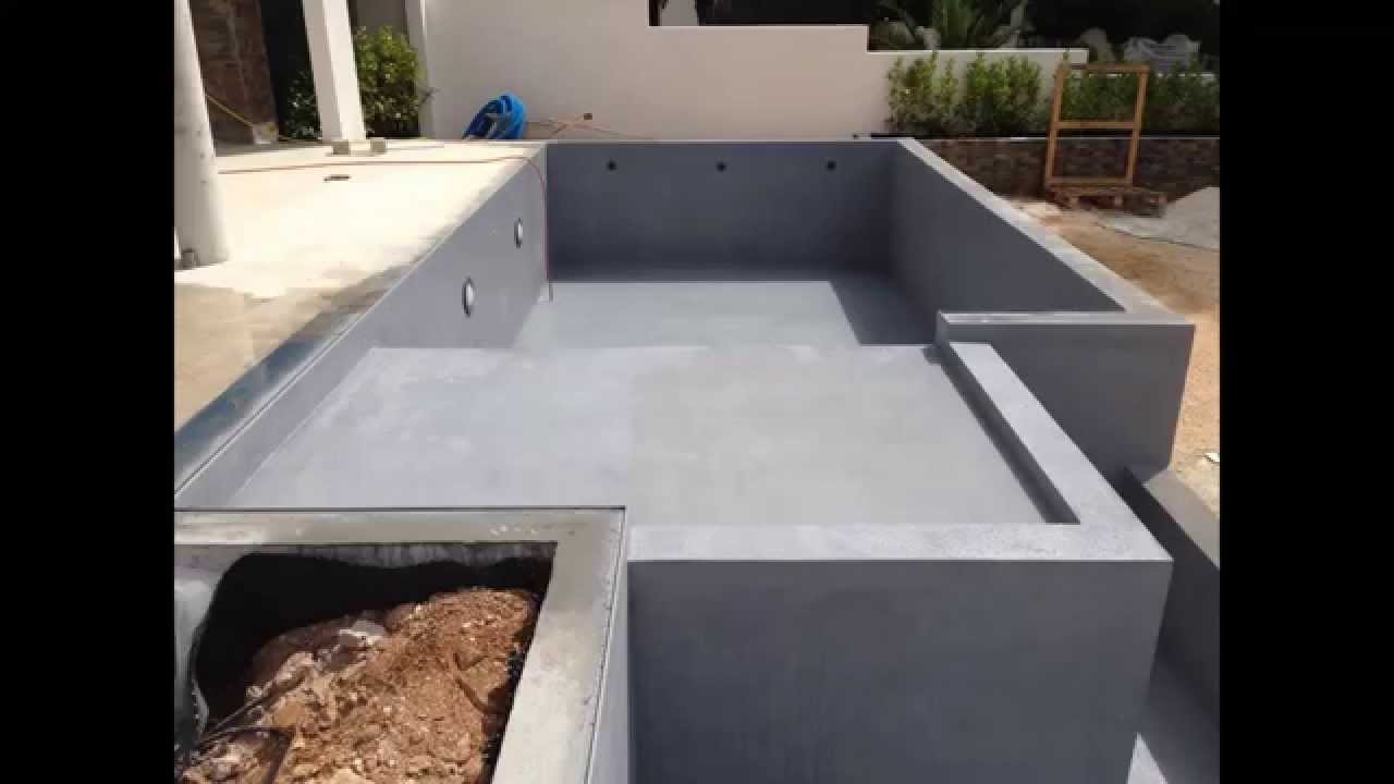 revetement piscine b ton aquabright d 39 ecofinish youtube