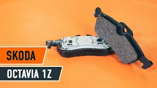 How to change Disk brake pads on SKODA OCTAVIA (1Z3) - online free video