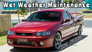 Maintenance on the XR6T