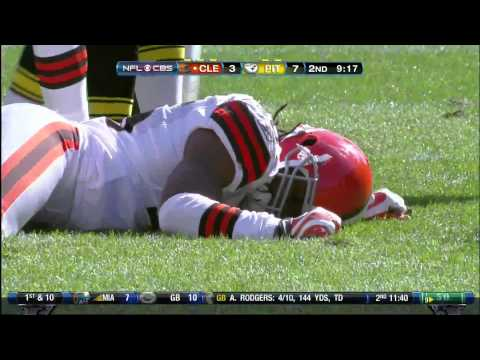 James Harrison hit on Josh Cribbs