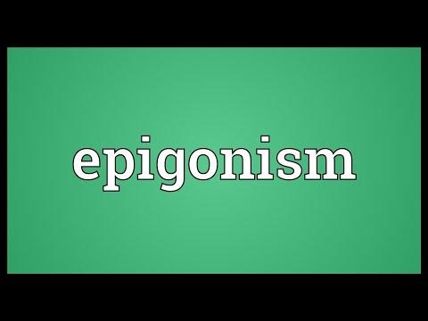 Header of epigonism