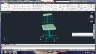 Autocad 2013 - 3d Modeling Basics - Desk Chair Part 1 - Brooke Godfrey