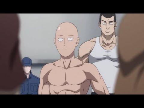 Saitama Workout - One Punch Man-Fitness test Saitama Destroys Training ...