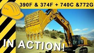 Brand New CAT 390F & 374F + 740C & 772G in Action - 1st Impressions - 4k Ultra HD - Bauforum24