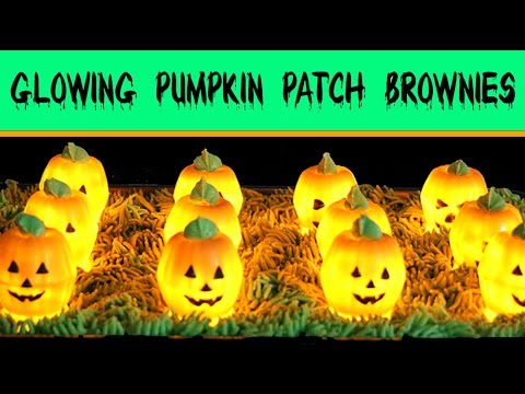 chocolate brownie pumpkin patch recipe how to make glowing halloween brownies pie - Halloween Brownie Recipe