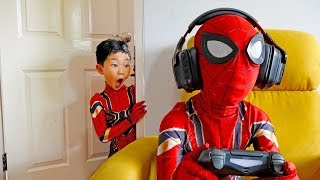 Moning Routine Super Hero Kids Pretend Play