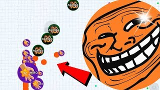 Agar.io FREE SKIN Solo Dominating Rush Mode Best Moments Agario Mobile Gameplay