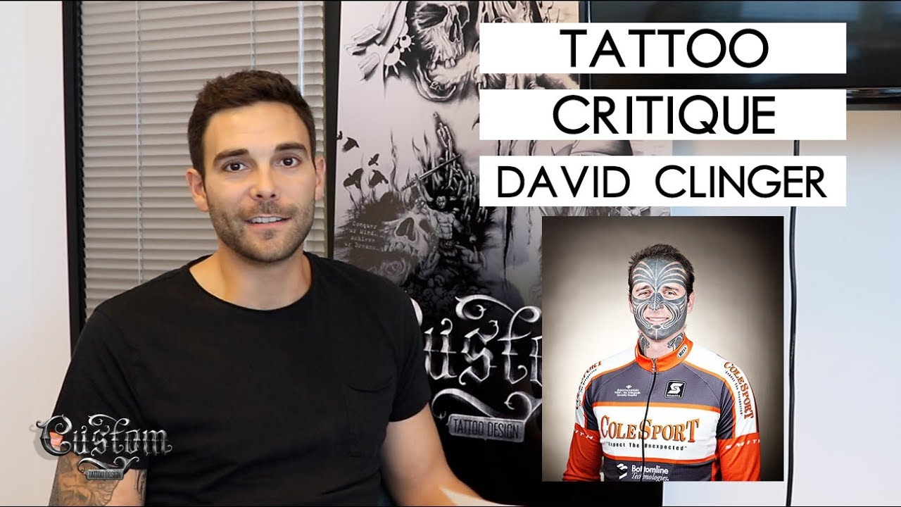 Clingers david facial tattoo