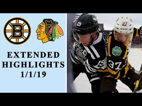 Boston Bruins v. Chicago Blackhawks | EXTENDED HIGHLIGHTS | 1/1/19 | NBC Sports