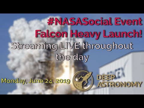 #NASASocial Event LIVE Streaming #SpaceX Falcon Heavy Launch!
