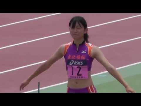 日本学生陸上 Women Triple jump 三段跳び 決勝 2013.6.22
