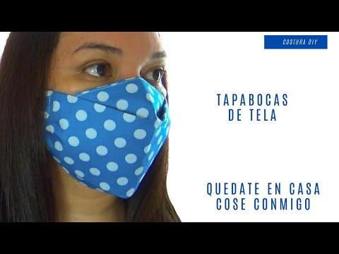 Cubrebocas casero de tela alergias, polen y polvo