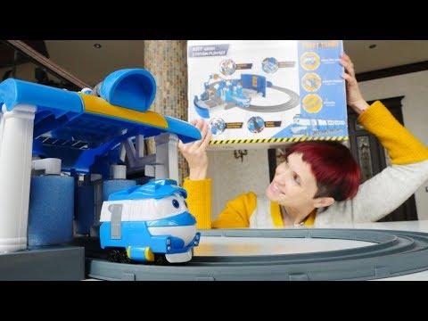 Новый робот поезд Кей! Видео с Машей Капуки.