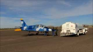 The Aero L-39 Albatros touch and go, Casa Grande Airport.